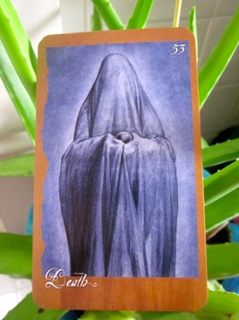Death Card, Faeries' Oracle by Brian Froud and Jessica Macbeth